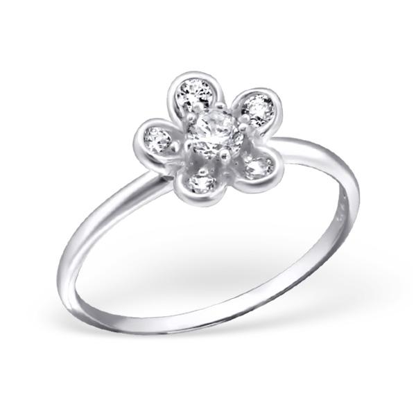 Levně Stříbrný prsten FLOWER 1197 Velikost prstenů: 7 (EU: 54-56) Ag 925; ≤1,2 g.