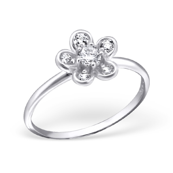 OLIVIE Stříbrný prsten FLOWER 1197 Velikost prstenů: 6 (EU: 51 - 53)