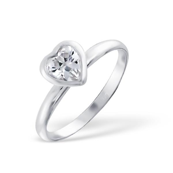 OLIVIE Stříbrný prsten SRDCE 1204 Velikost: 8 (EU: 57 - 58)