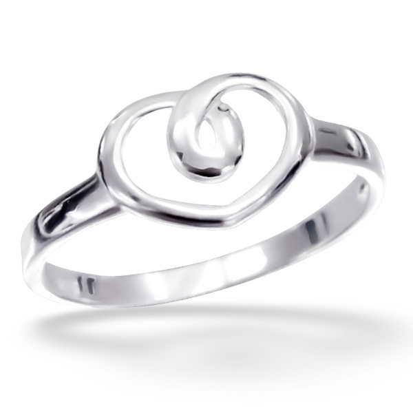 OLIVIE Stříbrný prsten SRDÍČKO 1206 Velikost: 8 (EU: 57 - 58)