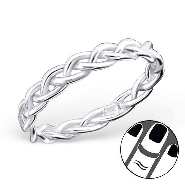 OLIVIE Stříbrný midi prsten 1212