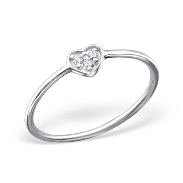 OLIVIE Stříbrný prsten SRDCE 1234 Velikost: 8 (EU: 57 - 58)