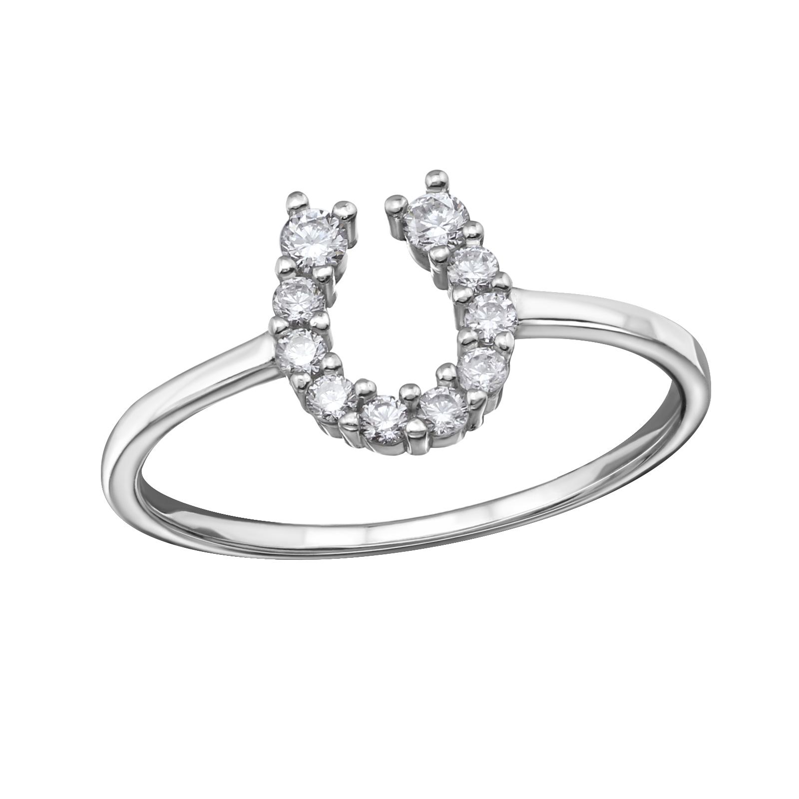 OLIVIE Stříbrný prsten PODKOVA 1238 Velikost: 8 (EU: 57 - 58)