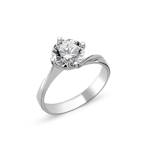 Levně Stříbrný solitérní prsten se zirkonem1265 Velikost prstenů: 6 (EU: 51-53) Ag 925; ≤2,7 g.