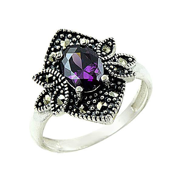 OLIVIE Stříbrný prsten MARCASITE 1271 Velikost: 8 (EU: 57 - 58)