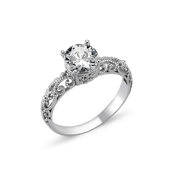 OLIVIE Stříbrný prsten OLIVIE s kubickým zirkonem 1272 Velikost prstenů: 6 (EU: 51 - 53)