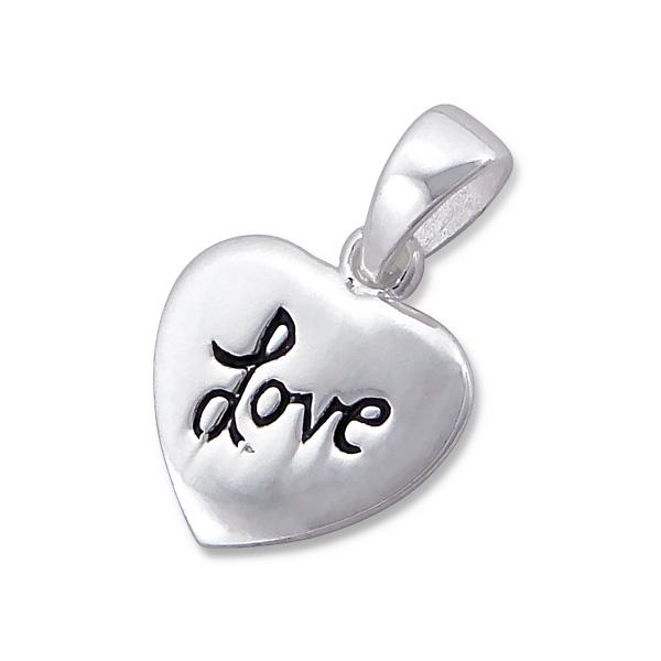OLIVIE Stříbrný přívěsek SRDCE LOVE 1322