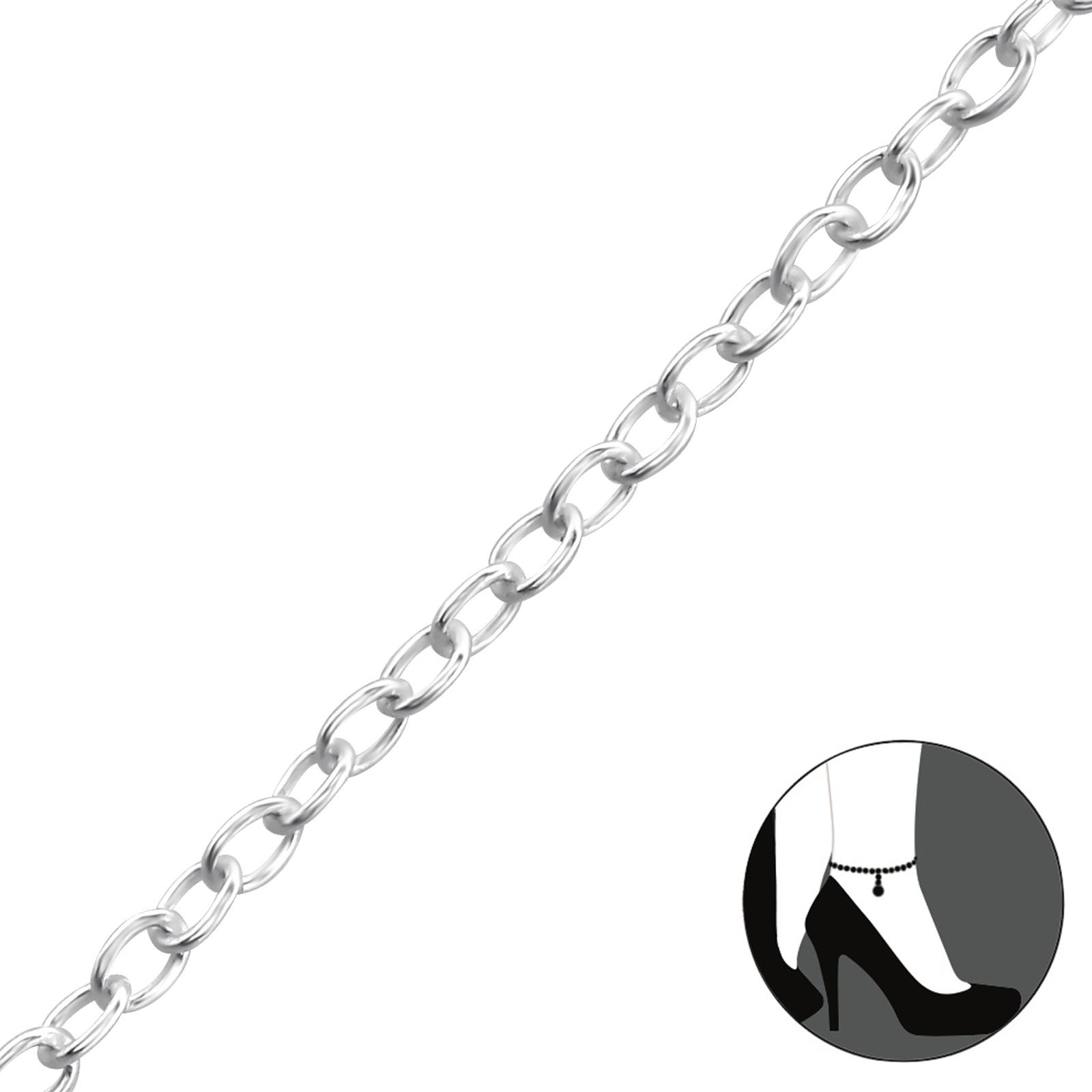 OLIVIE Stříbrný řetízek na nohu 1353