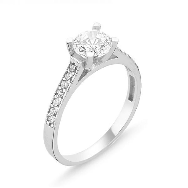 OLIVIE Stříbrný prsten se zirkonem 1364 Velikost prstenů: 5 (EU: 49-50)