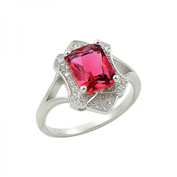 OLIVIE Stříbrný prsten RUBY 1373 Velikost: 8 (EU: 57 - 58)