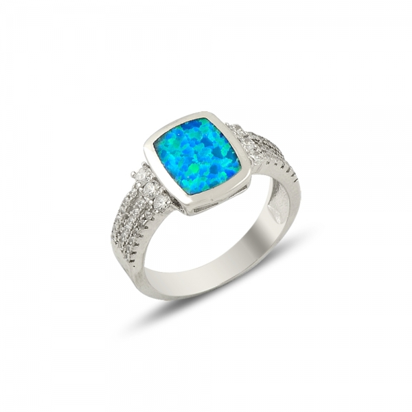 OLIVIE Stříbrný prsten OPAL 1420 Velikost: 8 (EU: 57 - 58)
