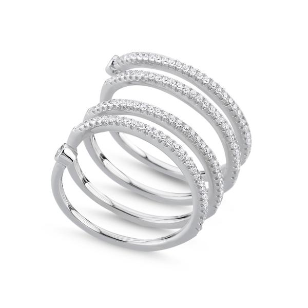 OLIVIE Stříbrný prsten SPIRAL 1426 Velikost: 8 (EU: 57 - 58)