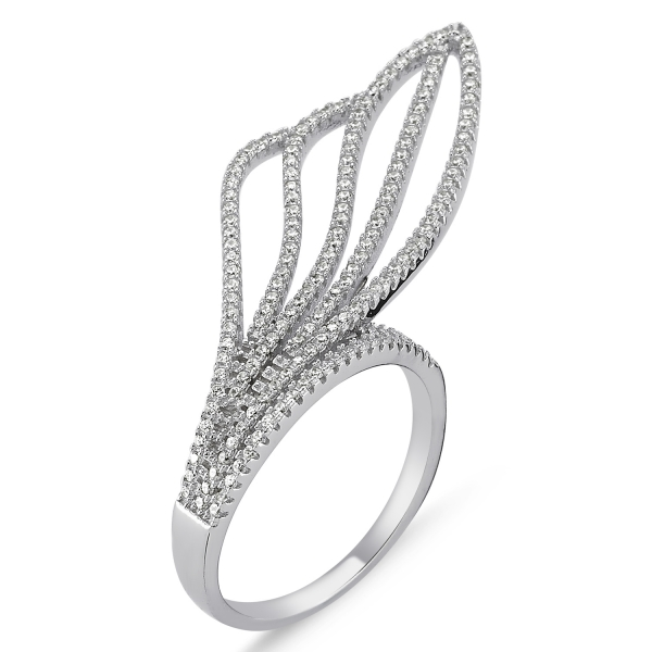 OLIVIE EXTRAVAGANTNÍ stříbrný prsten 1427 Velikost: 8 (EU: 57 - 58)