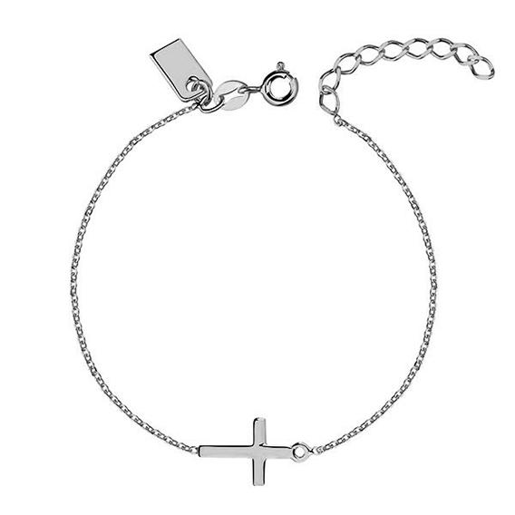 OLIVIE Stříbrný dámský náramek s křížkem 1500
