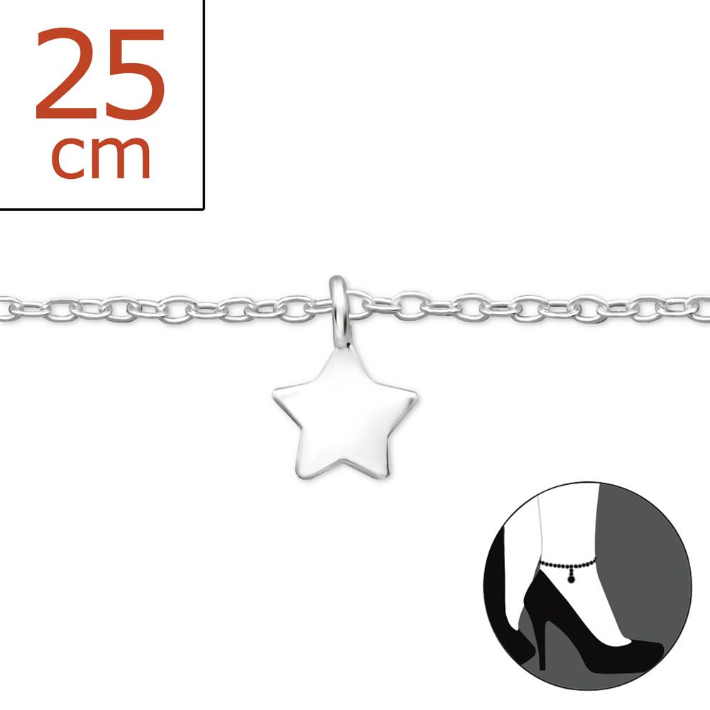 OLIVIE - stříbrný řetízek na nohu 0151