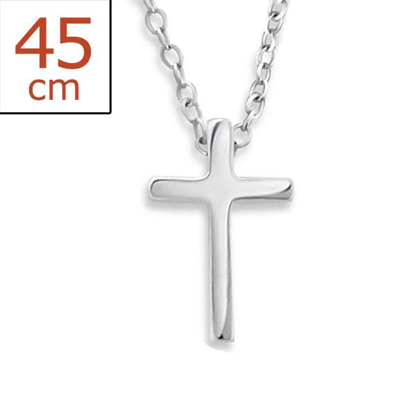 0155 Stříbrný řetízek KŘÍŽEK 45cm Ag 925; 1,10 g.