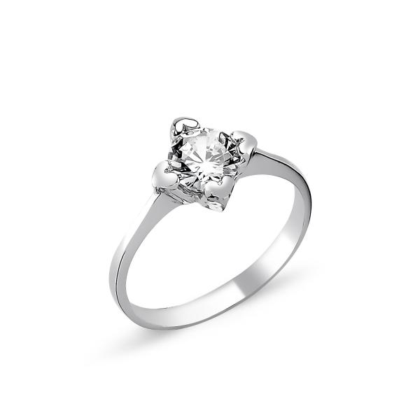 OLIVIE Stříbrný srdíčkový prsten CZ 1725 Velikost prstenů: 5 (EU: 47 - 50)