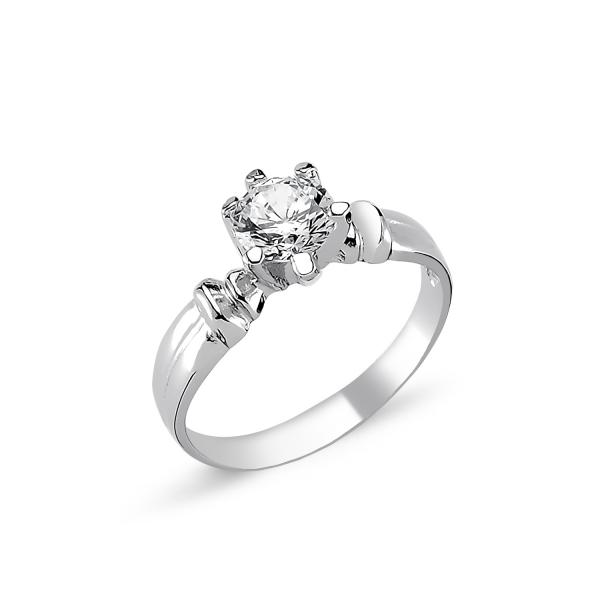 OLIVIE Stříbrný solitérní prsten CZ 1726 Velikost prstenů: 5 (EU: 47 - 50)