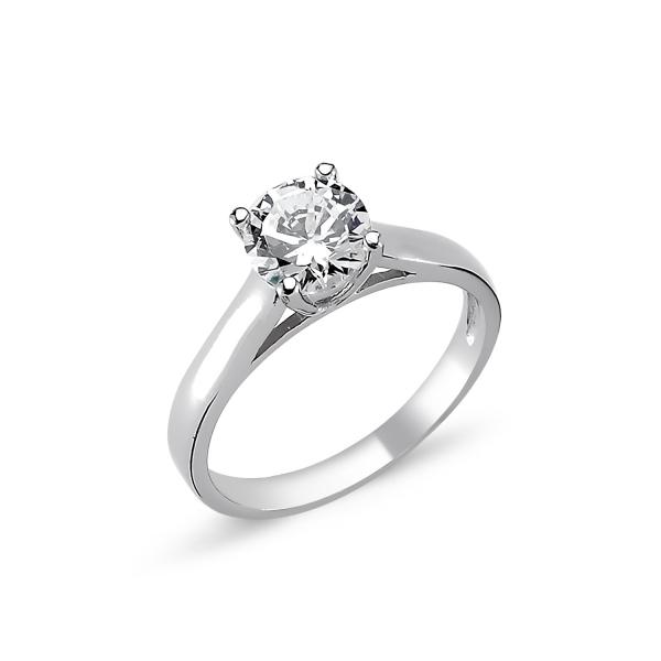 OLIVIE Stříbrný solitérní prsten CZ 1727 Velikost prstenů: 5 (EU: 47 - 50)
