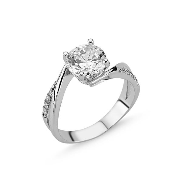 OLIVIE Stříbrný zásnubní prsten CZ 1732 Velikost prstenů: 5 (EU: 47 - 50)