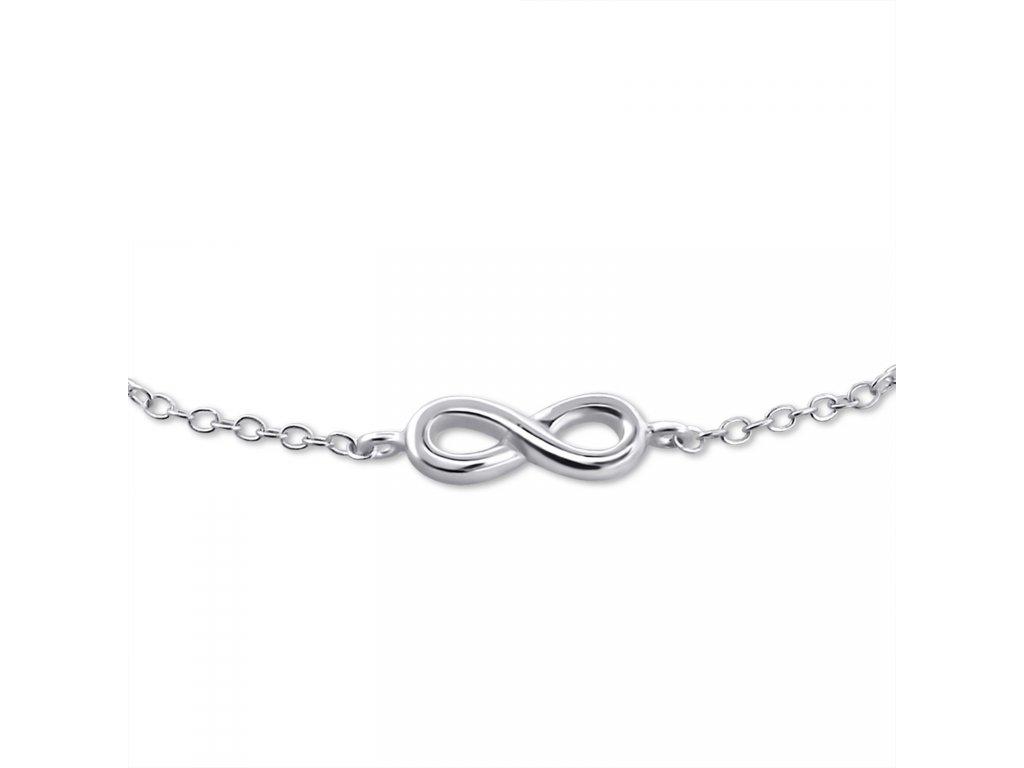 OLIVIE - stříbrný náramek NEKONEČNO 0181