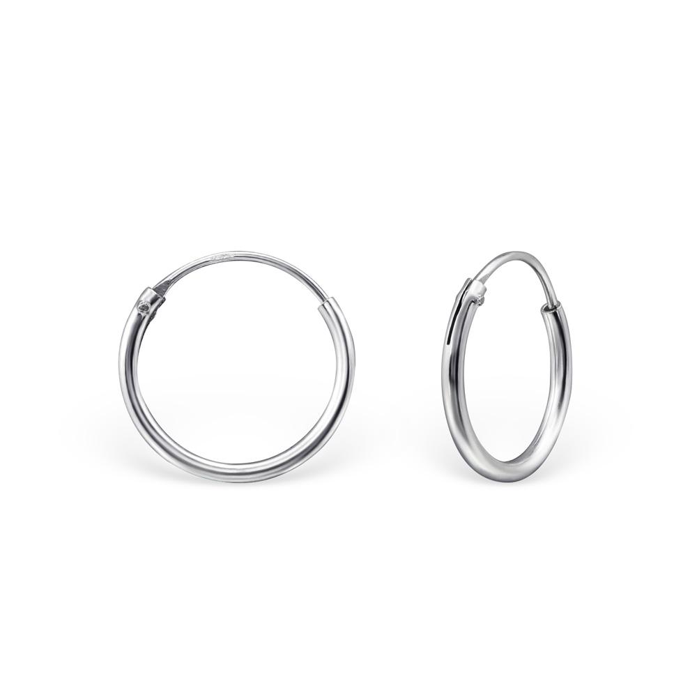 OLIVIE - Stříbrné náušnice KROUŽKY 12 mm, 0194