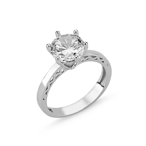 OLIVIE Stříbrný prsten se zirkonem 2072 Velikost prstenů: 6 (EU: 51 - 53)
