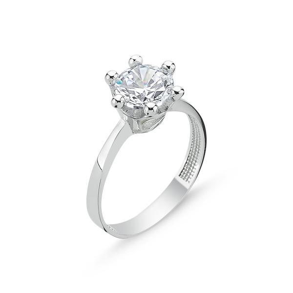 OLIVIE Stříbrný prsten se zirkonem 2073 Velikost prstenů: 5 1/4 (EU: 50)