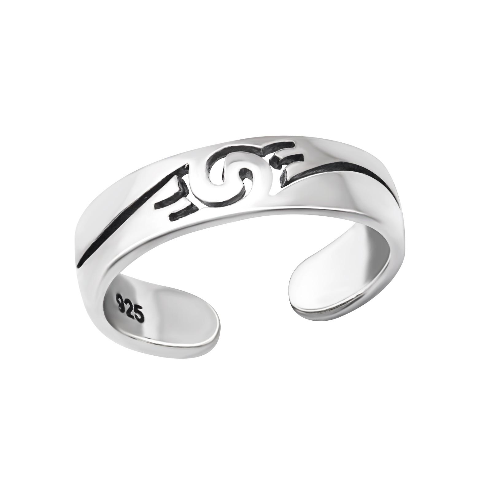 OLIVIE Stříbrný prsten na nohu 2089