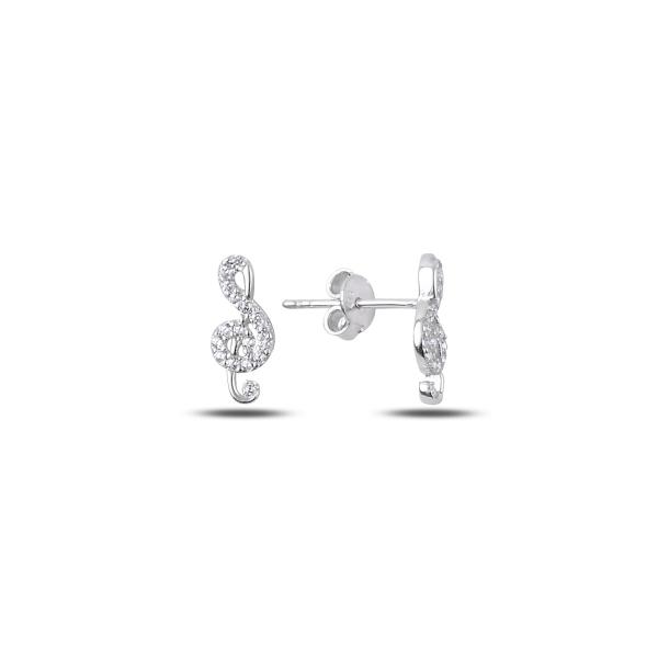 Levně Stříbrné náušnice HOUSLOVÝ KLÍČ 2154 Ag 925; ≤0,95 g.