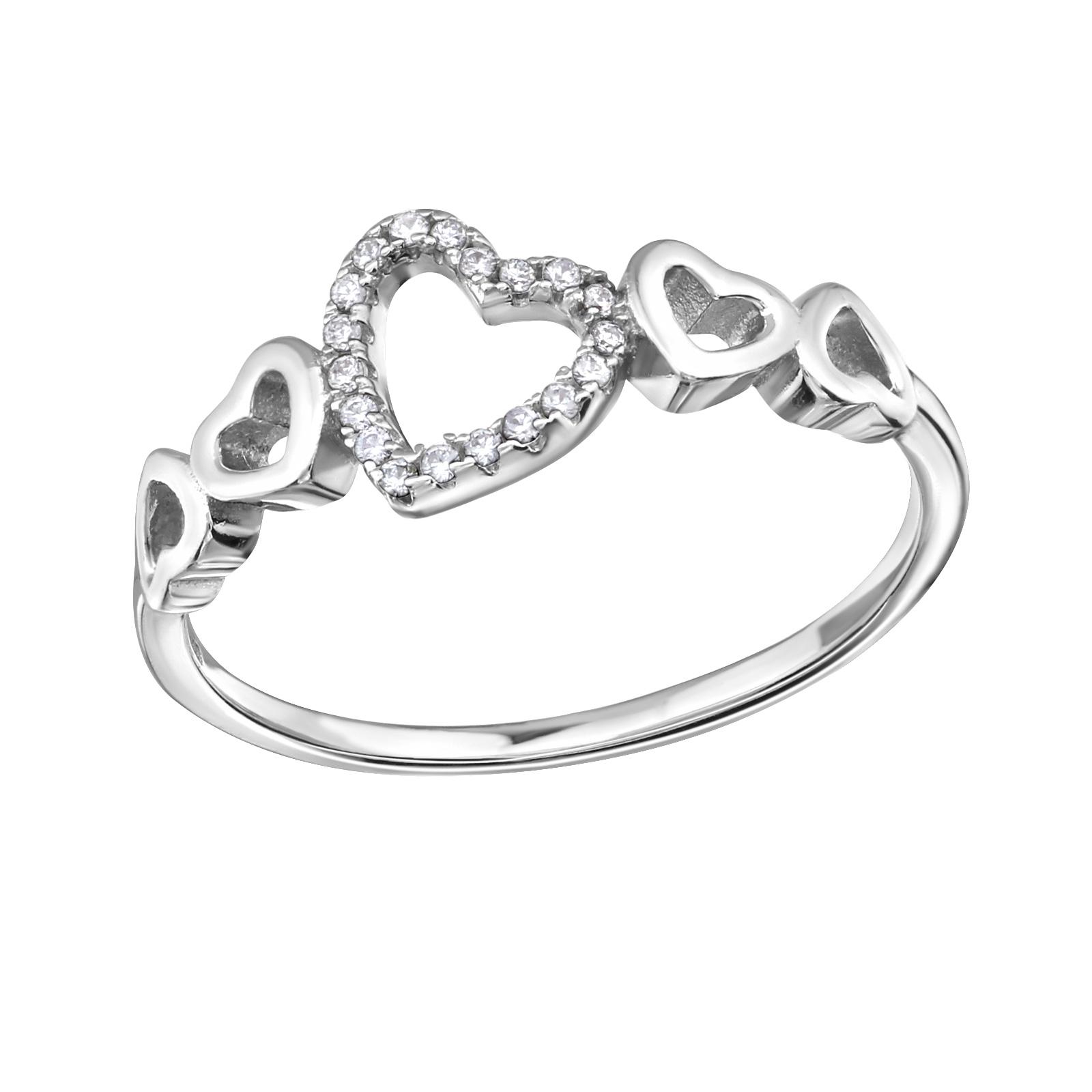 OLIVIE - stříbrný prsten 0212 Velikost: 8 (EU: 57 - 58)