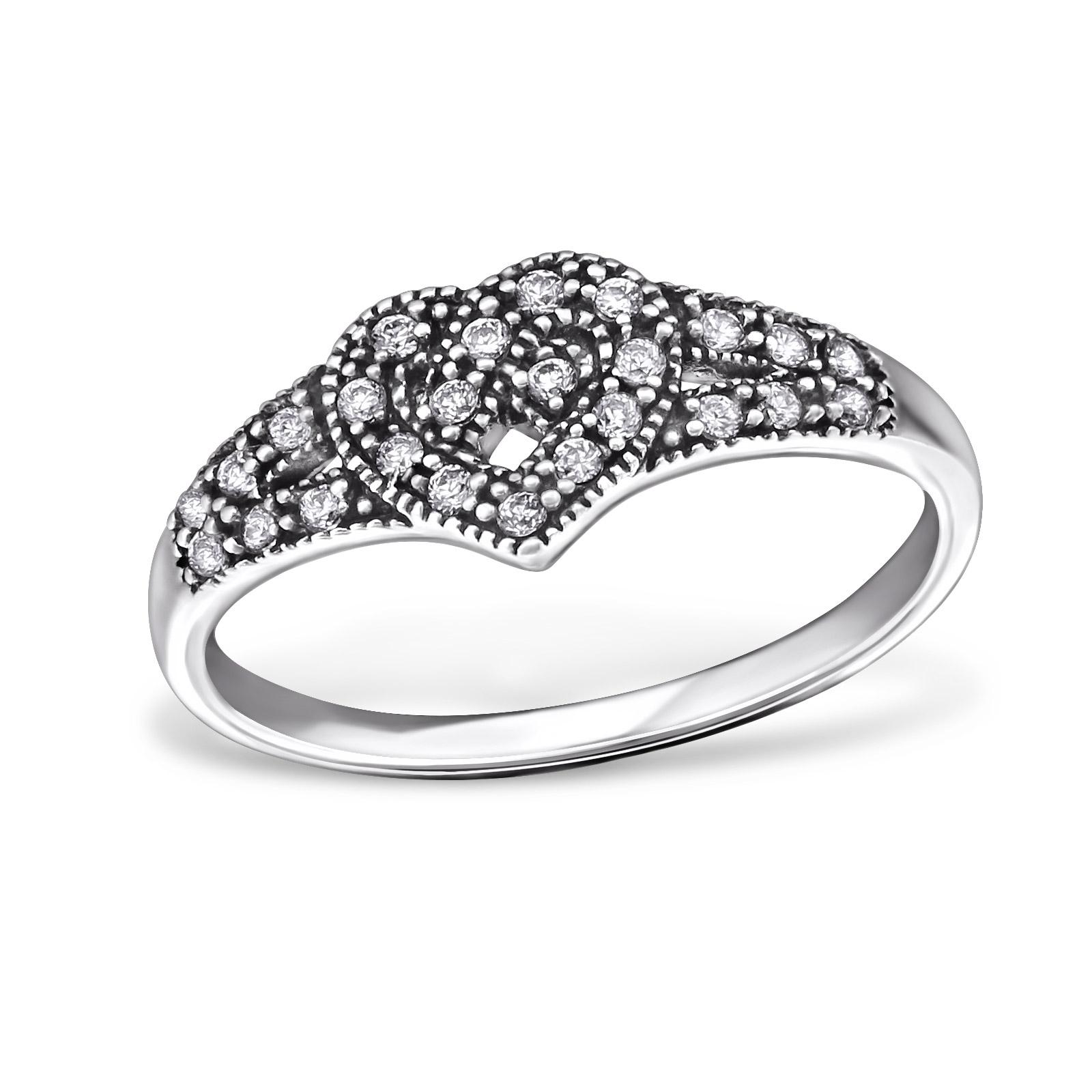 OLIVIE - stříbrný prsten 0216 Velikost: 8 (EU: 57 - 58)