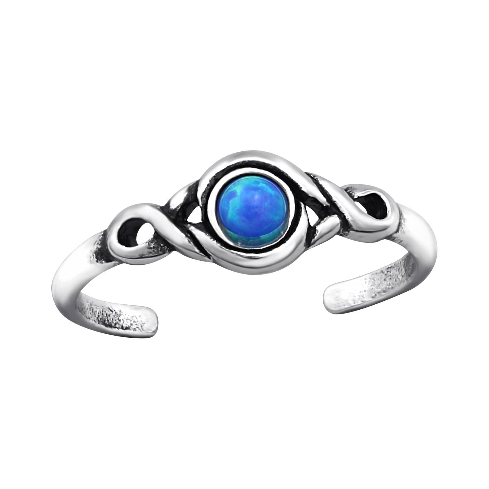 OLIVIE Stříbrný prsten na nohu OPAL 2223