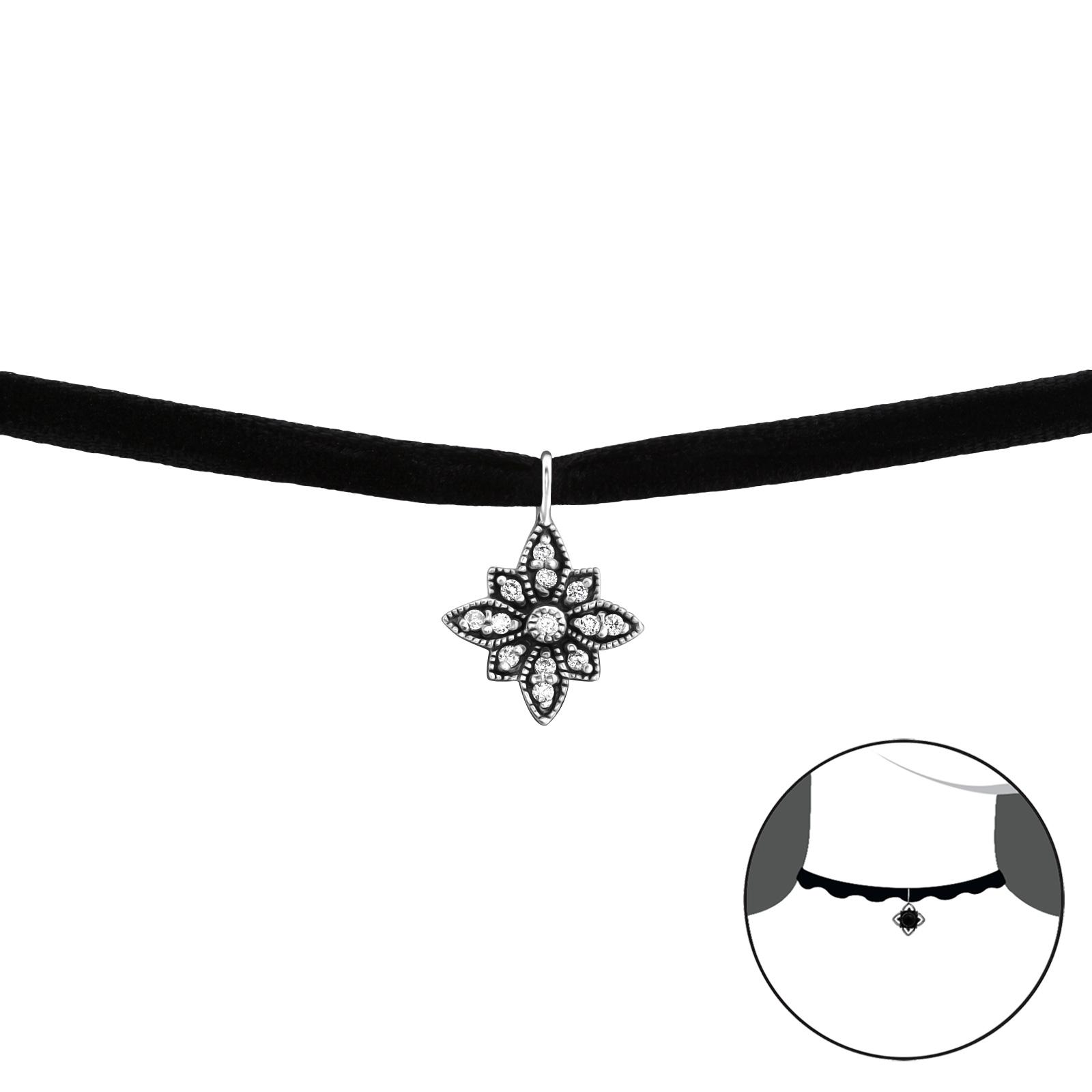 OLIVIE CHOKER náhrdelník se zirkony 2229