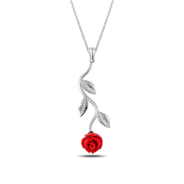OLIVIE Stříbrný náhrdelník RŮŽE 2334