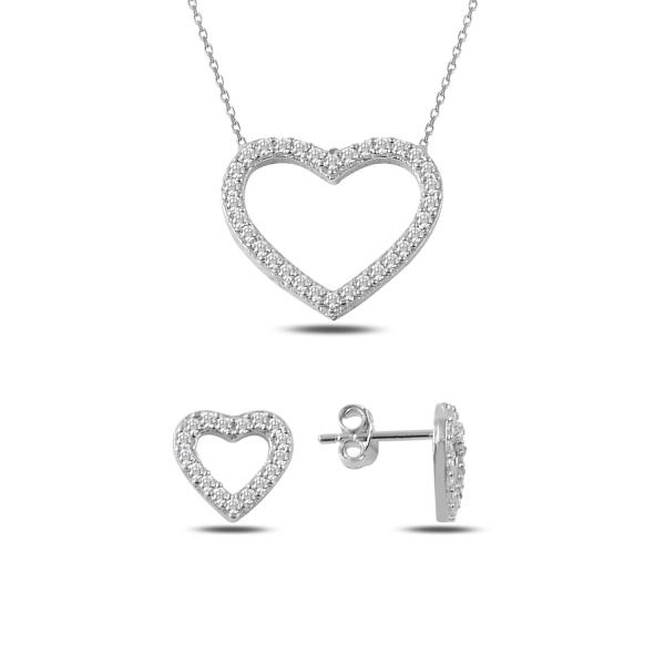 OLIVIE Sada stříbrných šperků SRDCE 2350