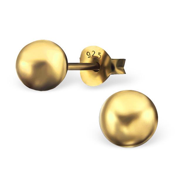 OLIVIE - Stříbrné náušnice KULIČKY GOLD 0264