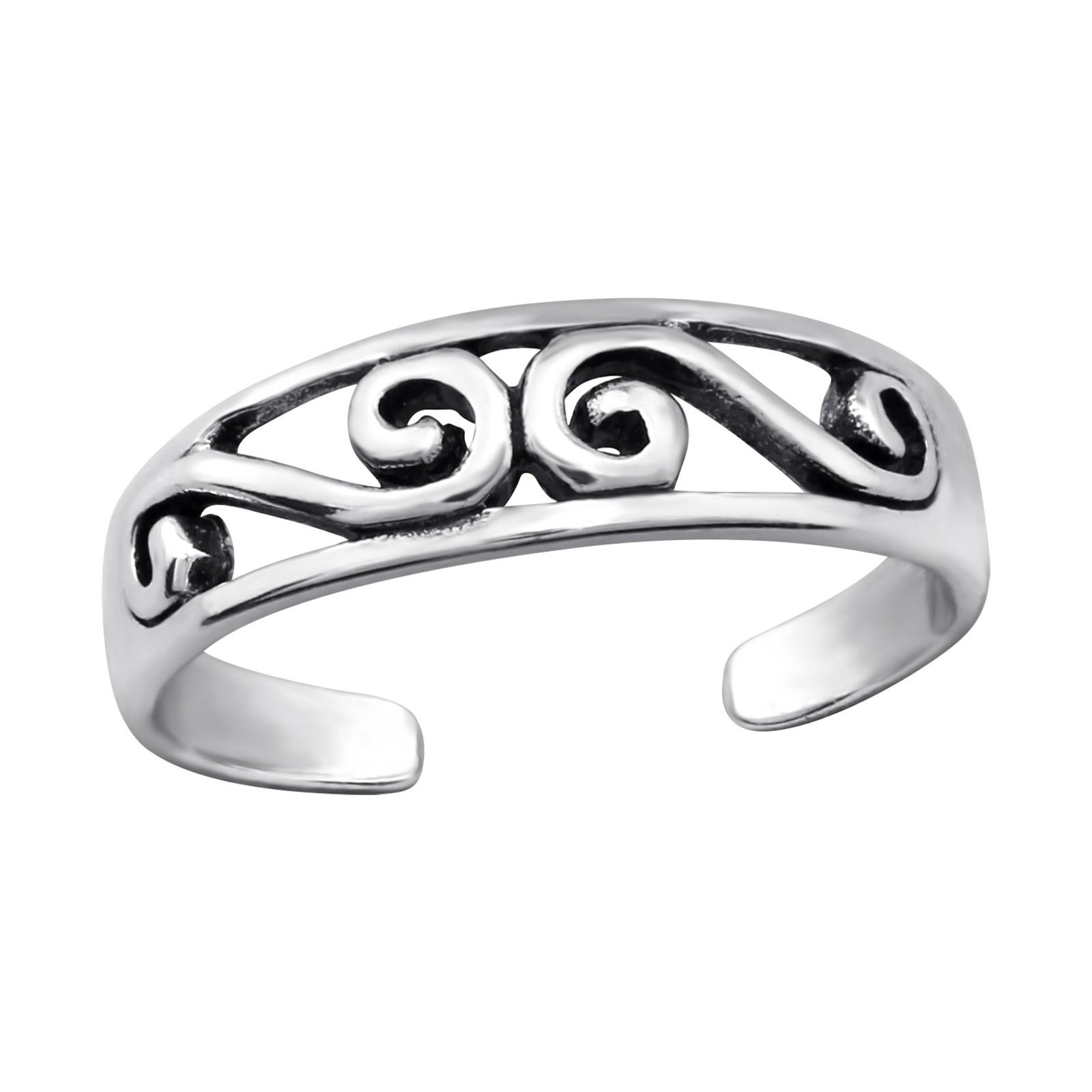OLIVIE Stříbrný prsten na nohu 2732
