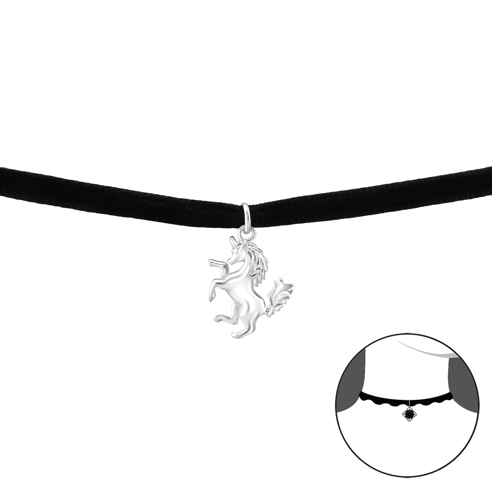 OLIVIE CHOKER náhrdelník JEDNOROŽEC 2746