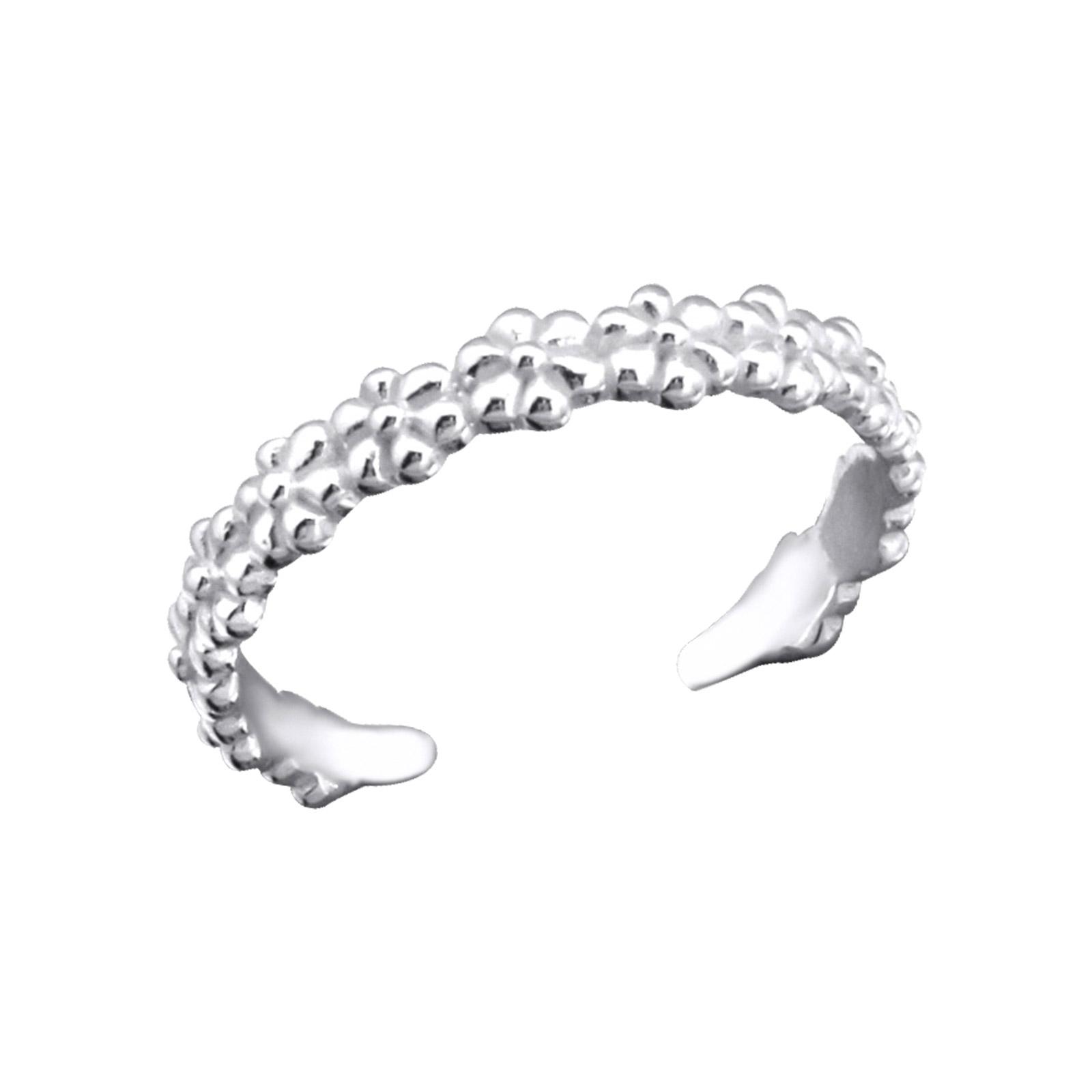 OLIVIE Stříbrný květinový prsten na nohu 2753
