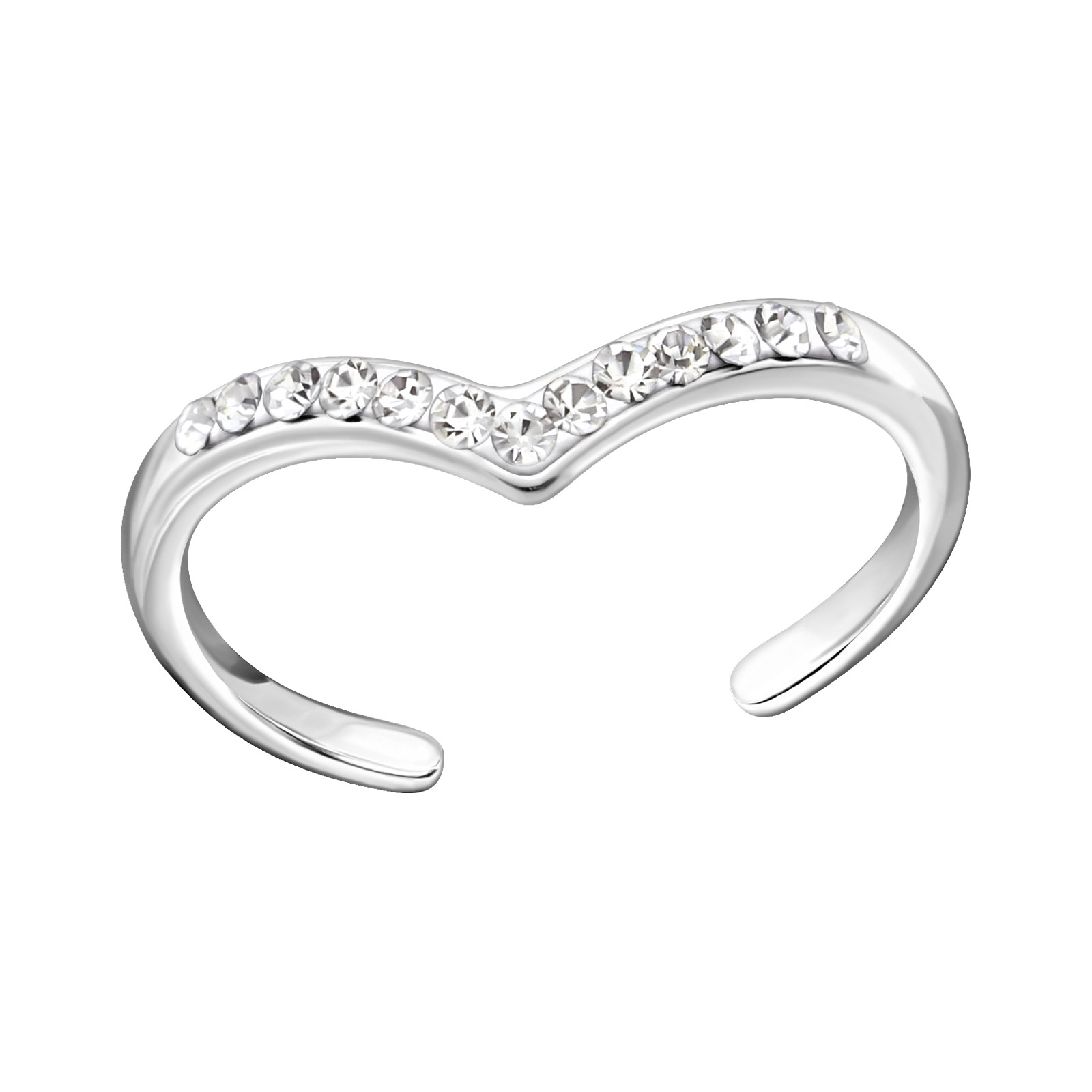 OLIVIE Stříbrný prsten na nohu 2757