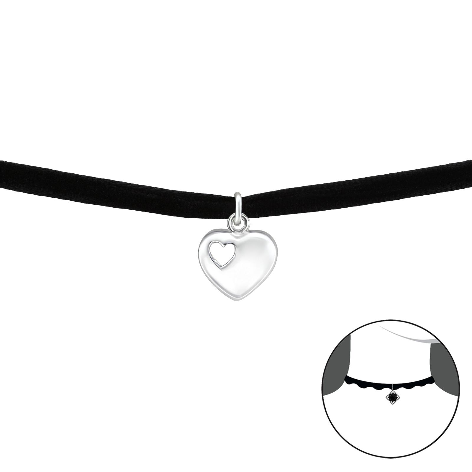OLIVIE CHOKER náhrdelník SRDÍČKO 2760