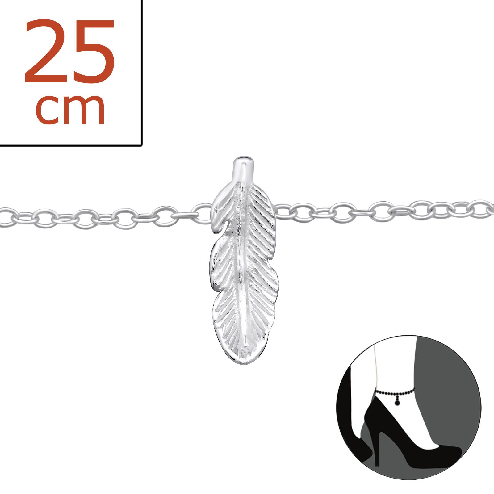 OLIVIE - Stříbrný řetízek na nohu PÍRKO 0286