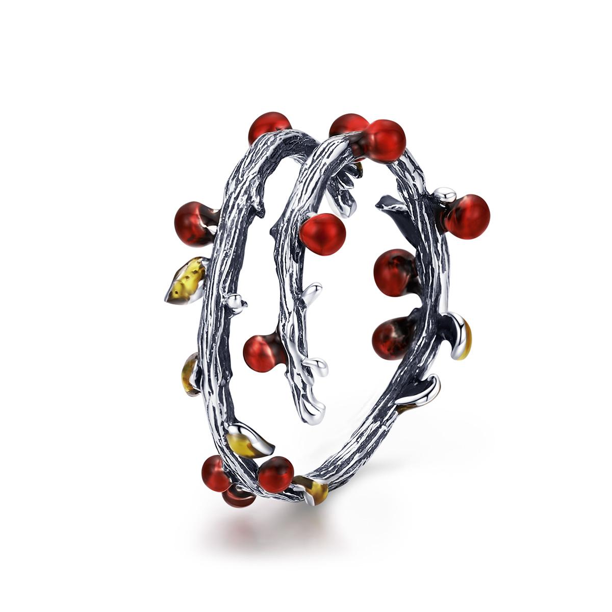 OLIVIE Stříbrný prsten VÁNOČNÍ 2953