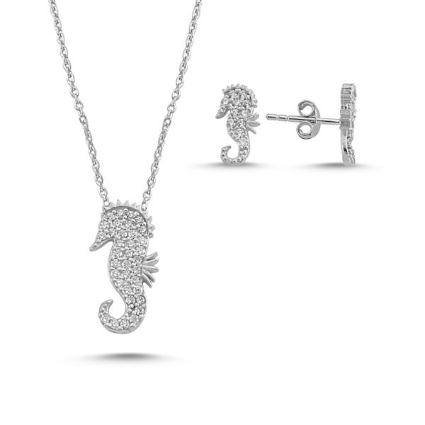 OLIVIE Sada stříbrných šperků MOŘSKÝ KONÍK 2871