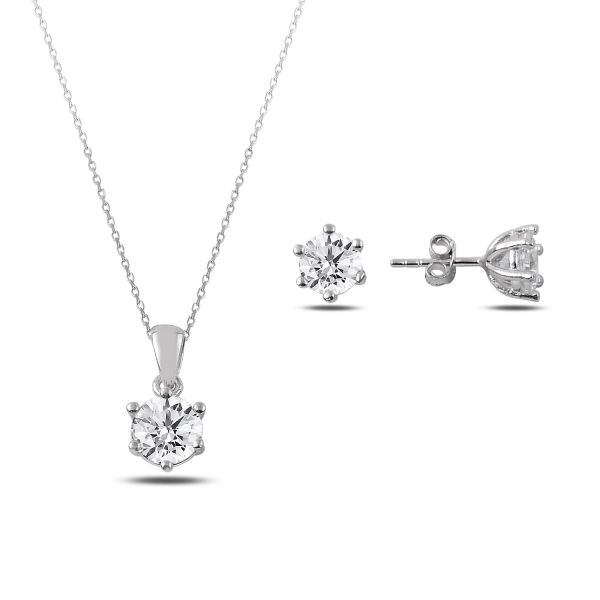OLIVIE Sada stříbrných šperků ZIRKON 2874