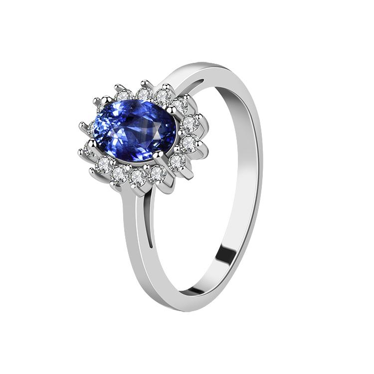 OLIVIE Stříbrný prsten SAFÍR 2970 Velikost prstenů: 6 (EU: 51-53)