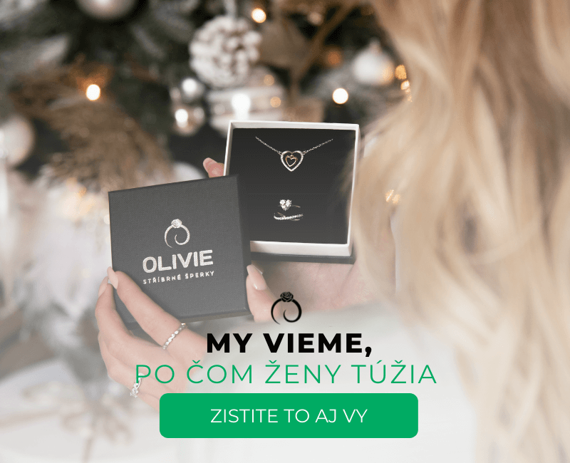 Strieborný prsteň OLIVIE
