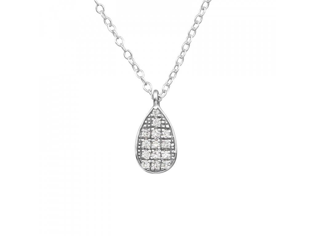 0871 Strieborný náhrdelník s kubickými zirkónmi