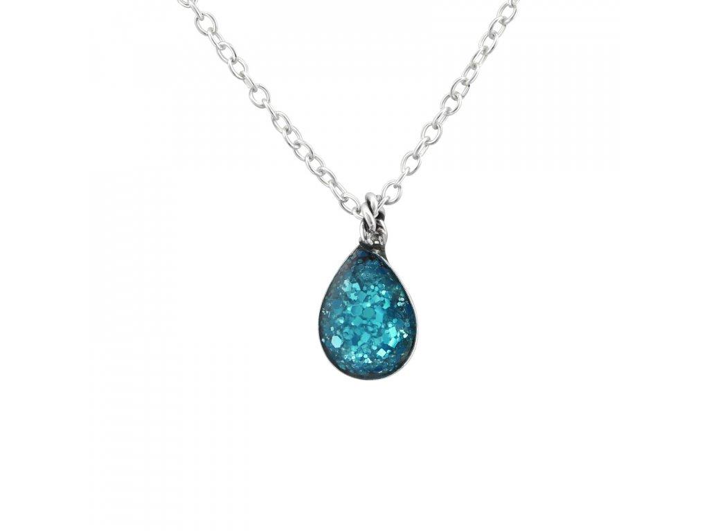0969 Strieborný náhrdelník SLZA